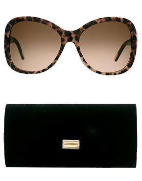 Image 2 ofDolce And Gabanna Mix &amp; Match Leopard Print Sunglasses