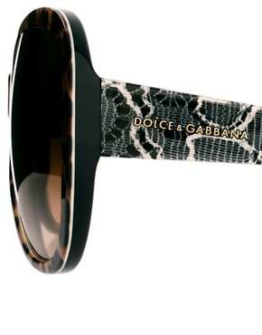 Image 4 ofDolce And Gabanna Mix &amp; Match Leopard Print Sunglasses