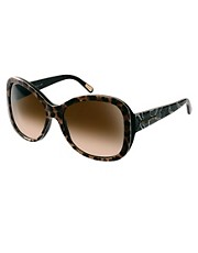 Dolce And Gabanna Mix &amp; Match Leopard Print Sunglasses