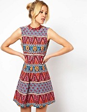 ASOS Shift Dress In Habanera Print