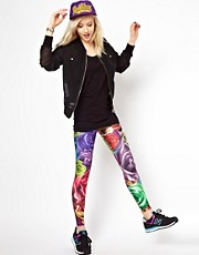 Mr. Gugu & Miss Go - Leggings con rose