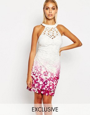 Lipsy Degrade Cut Out Lace Dress