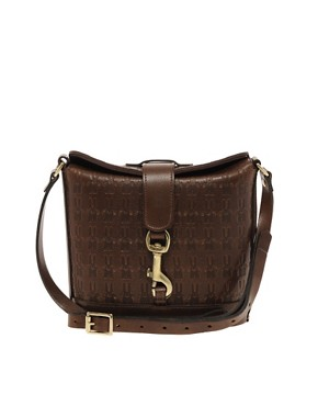 Image 1 ofPeter Jensen Small Textured Embossed Angela Bag