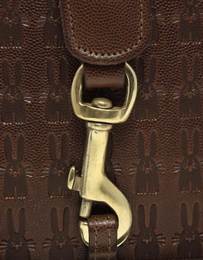 Image 4 ofPeter Jensen Small Textured Embossed Angela Bag
