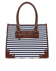 Aldo Perrysburg Stripe Shopper Bag
