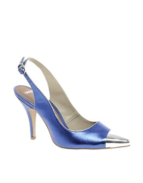 Image 1 ofASOS PITCH Pointed High Heels with Metal Toe Cap