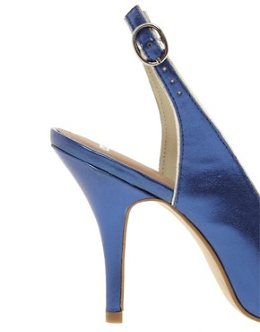 Image 2 ofASOS PITCH Pointed High Heels with Metal Toe Cap