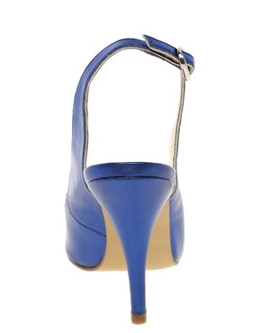Image 3 ofASOS PITCH Pointed High Heels with Metal Toe Cap