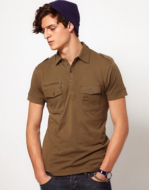 Image 1 ofDiesel Military Polo Shirt