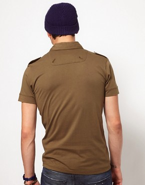 Image 2 ofDiesel Military Polo Shirt