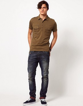 Image 4 ofDiesel Military Polo Shirt