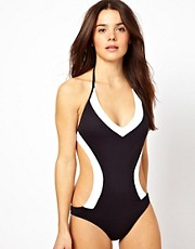 Baku Spliced Underwire Cutaway Swimsuit