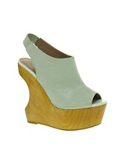 Faith Devon Cut Out Wedge Sandals
