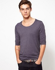 ASOS 3/4 Sleeve T-Shirt With Scoop Neck