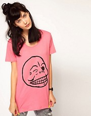 Cheap Monday Flirt Skull T-Shirt