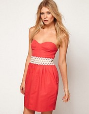 ASOS Bandeau Dress With Cut Out Waist