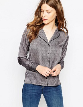 Le Mont St Michel Shirt In Geometric Print