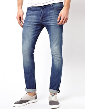 Image 1 ofASOS Super Skinny Jeans In Washed Blue.