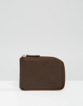 Royal RepubliQ Fuze Zip Wallet In Brown