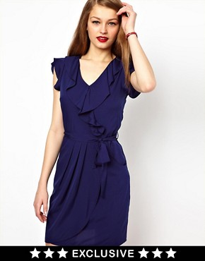 Image 1 ofA Wear Wrap Front Dress