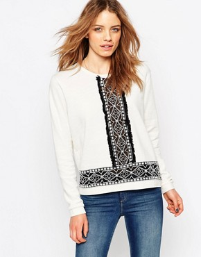 Maison Scotch Embroidered Panel Top