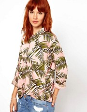 Ganni Shirt in Palm Print