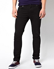 J Lindeberg Skinny Jean In Black Denim