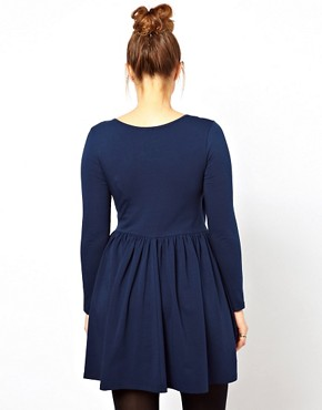 Image 2 ofASOS CURVE Skater Dress With Ballet Wrap