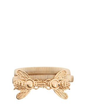 Image 1 ofASOS Bug Buckle Metal Waist Belt