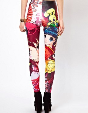 Image 2 ofBambam Leggings in Manga Print