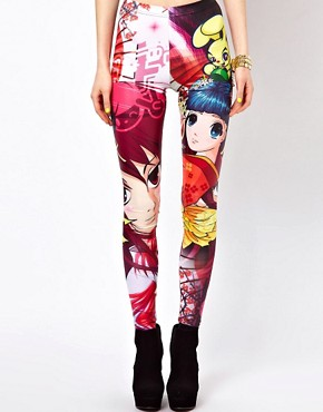 Image 4 ofBambam Leggings in Manga Print
