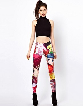 Image 1 ofBambam Leggings in Manga Print