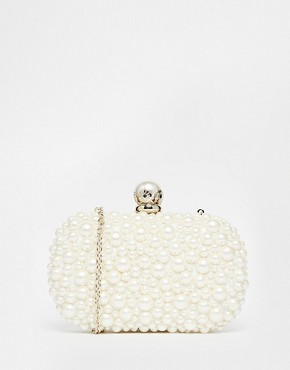 ALDO Faux Pearl Box Clutch