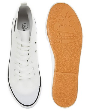 Image 3 ofCheap Monday Birdman Hi-Top Plimsolls
