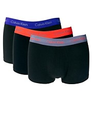 Calvin Klein 3 Pack Trunks Cotton Stretch