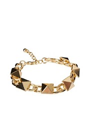 ASOS Stud &amp; Chain Link Bracelet