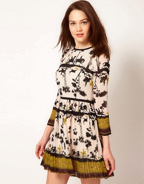 Image 1 ofTed Baker Cameo Printed Dress