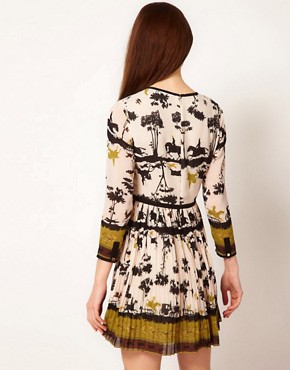 Image 2 ofTed Baker Cameo Printed Dress