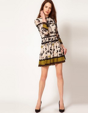 Image 4 ofTed Baker Cameo Printed Dress