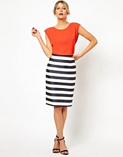 Oasis Stripe Pencil Skirt
