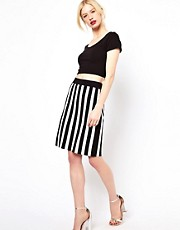 Boutique by Jaeger Knitted Skirt in Stripe