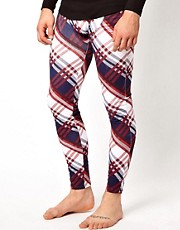 Jack &amp; Jones 2 Pack Check Long Johns