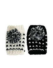 Plush Pom Pom Hand Warmers