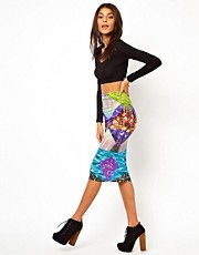 ASOS Pencil Skirt in Graphic Galaxy Print