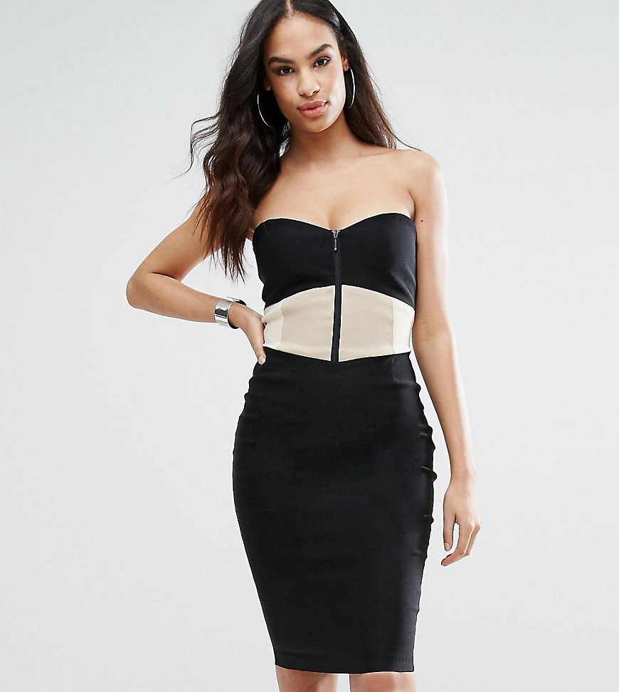 Vesper Sweetheart Pencil Dress With Panelled Bodice