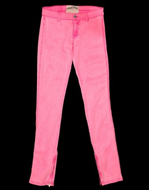 Image 3 ofTextile Elizabeth and James Jeans Skinny Neon