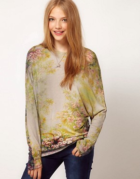 Image 1 ofASOS Jumper in Enchanted Print