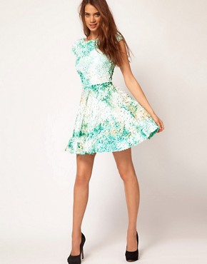 Image 4 ofASOS Skater Dress With Mermaid Sequins