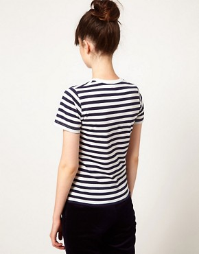Image 2 ofPeter Jensen Striped Pear Tee