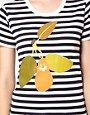 Image 3 ofPeter Jensen Striped Pear Tee